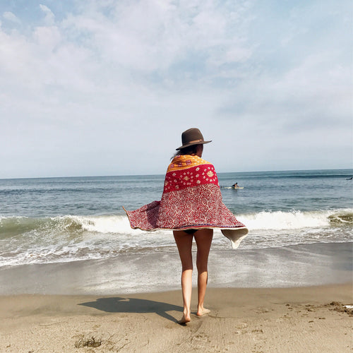 preorder || Adult Kantha Beach Towel