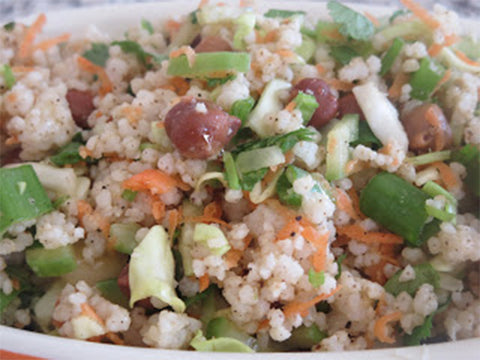 Kodo Millet vegetable salad