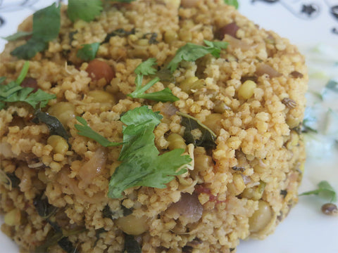 Sprouted Millets Biryani
