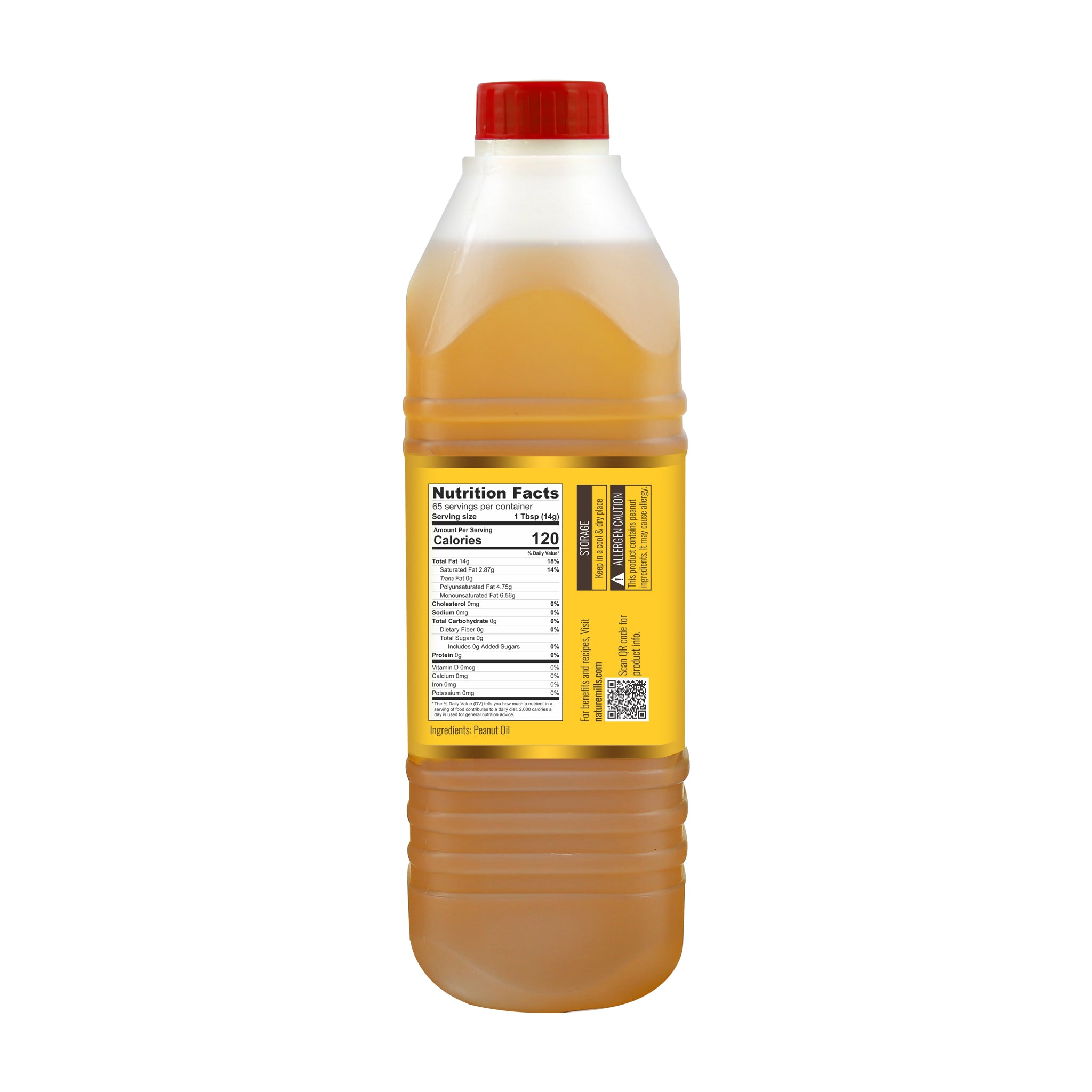 Peanut Oil 1L back