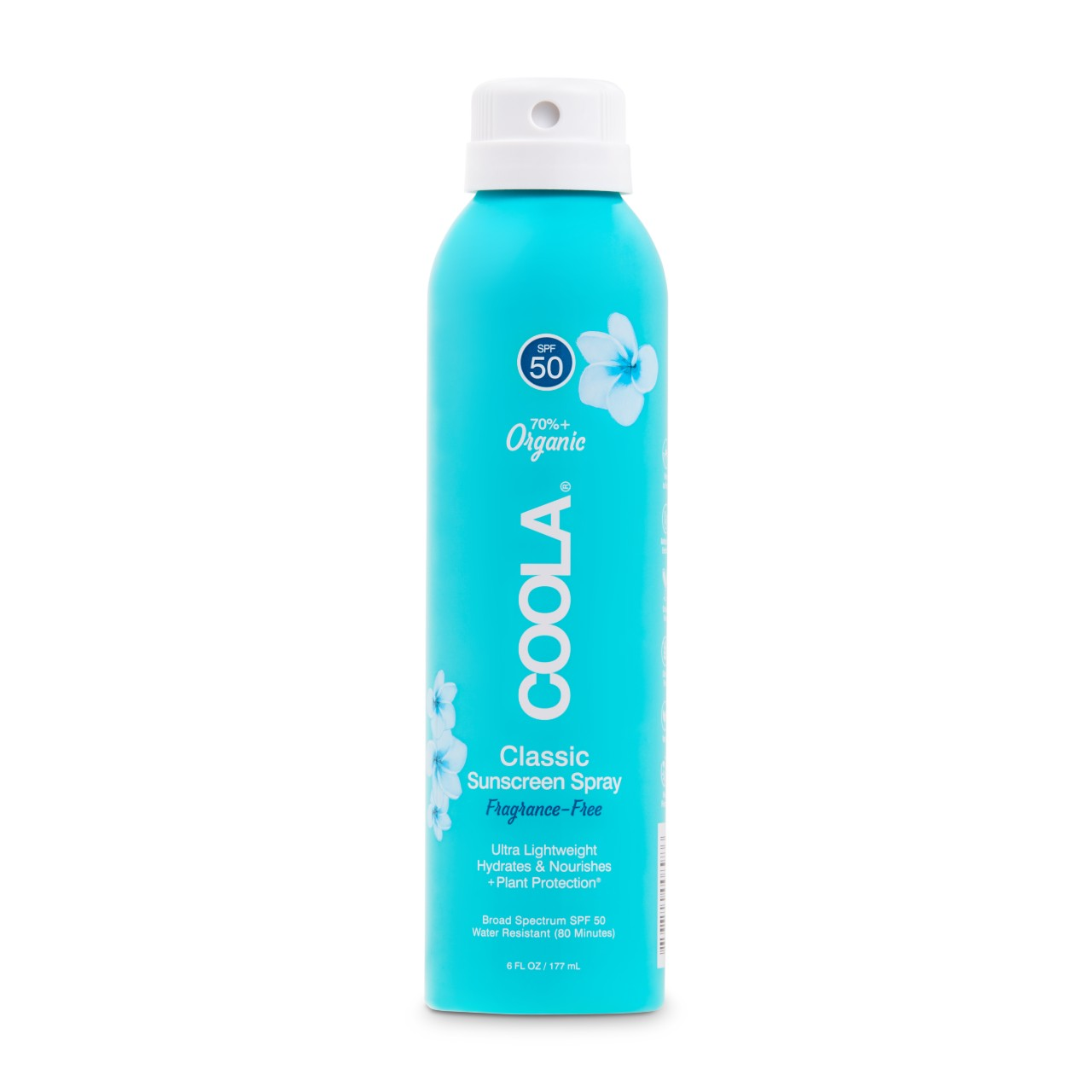 COOLA Classic SPF50 Sunscreen Spray Fragrance Free 6oz