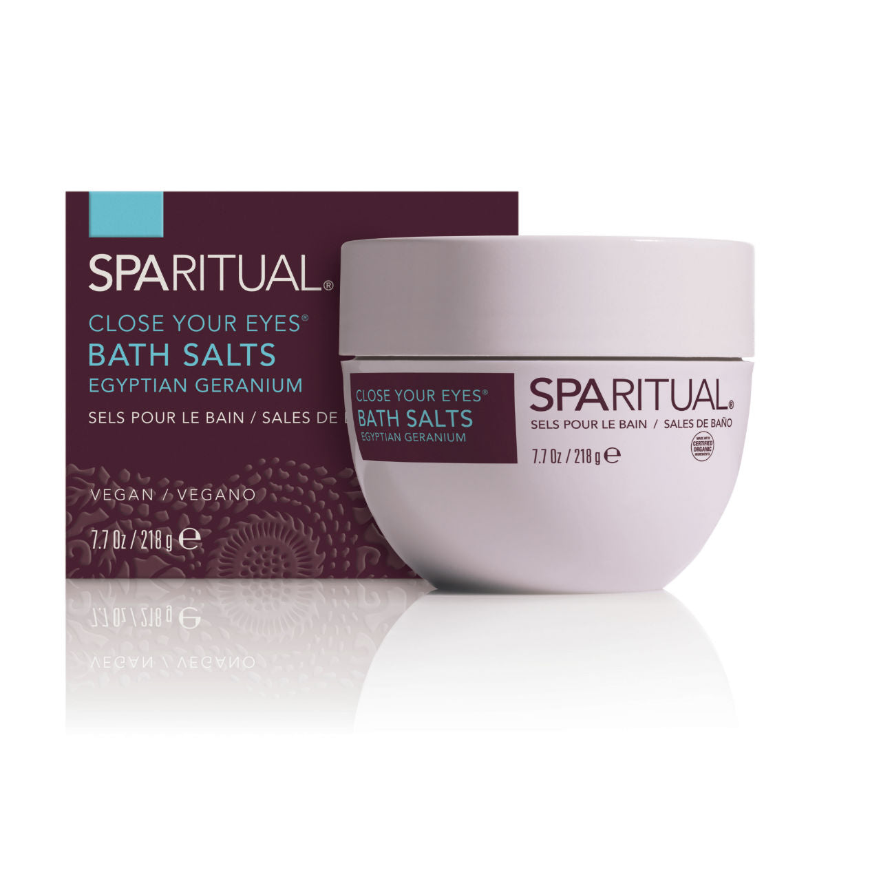 SPARITUAL Close Your Eyes® Bath Salts Box
