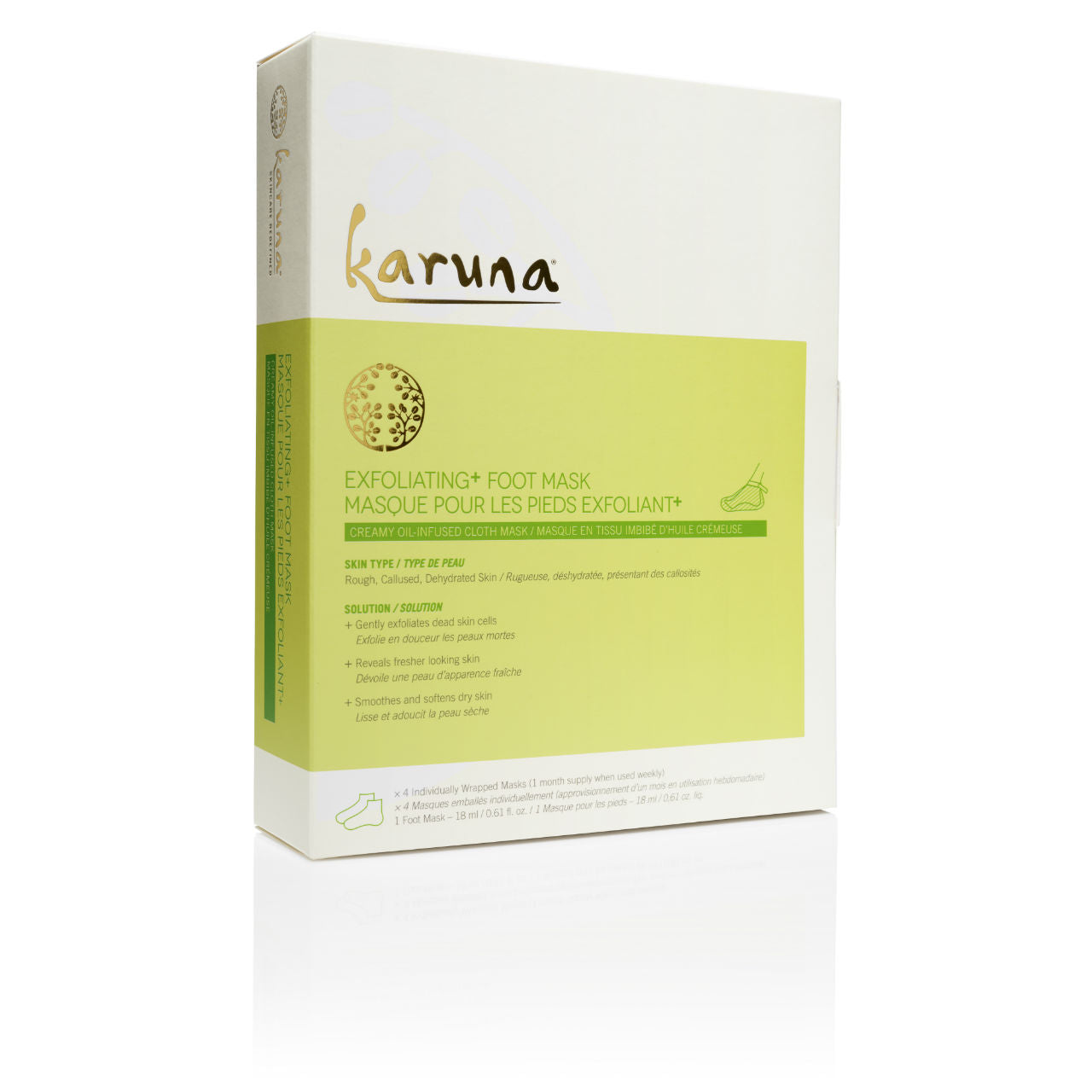 KARUNA Exfoliating+ Foot Mask Box