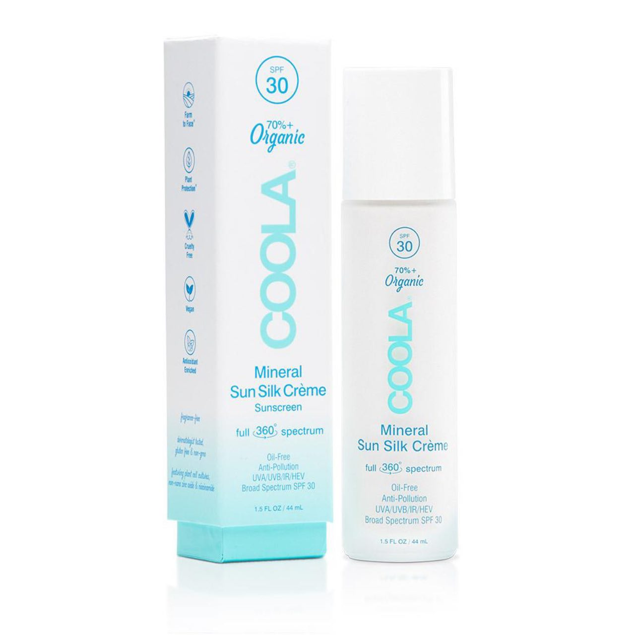 COOLA SPF 30 Full Spectrum 360° Mineral Sun Silk Crème Organic Sunscreen