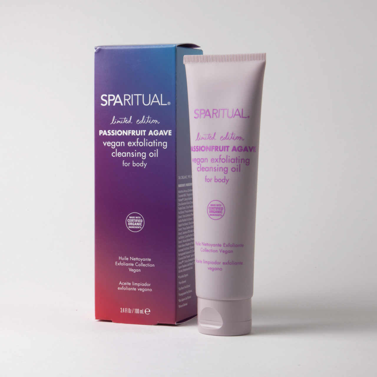 SPARITUAL Passionfruit Agave Exfoliating Cleansing Oil