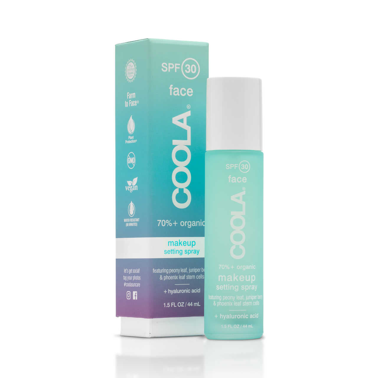 COOLA Classic Face SPF 30 Makeup Setting Spray - Organic