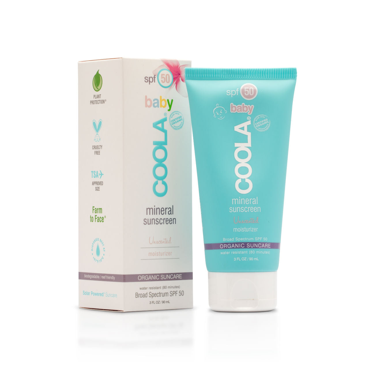 COOLA Mineral Baby SPF50 Unscented Moisturizer