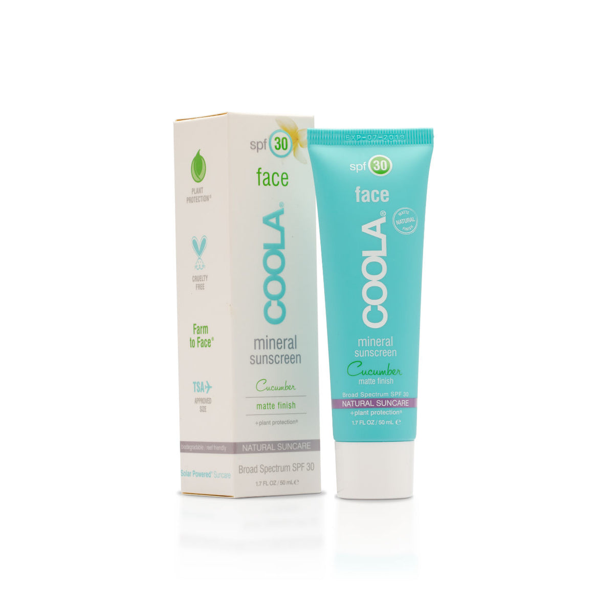 COOLA Mineral Face SPF 30 Cucumber Matte Finish