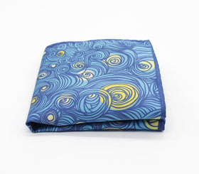 Abstract Swirls Pattern Pocket Square