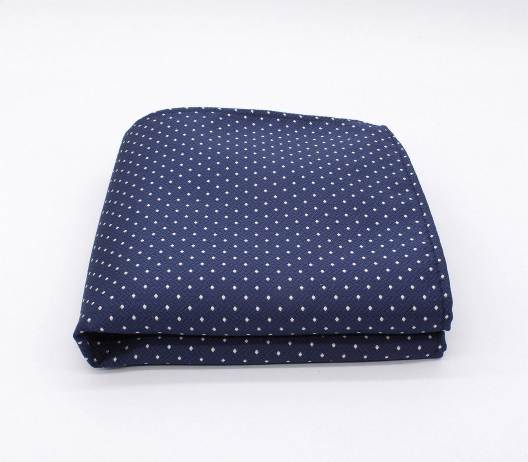 Administrative Blue Polka Dot Pocket Square