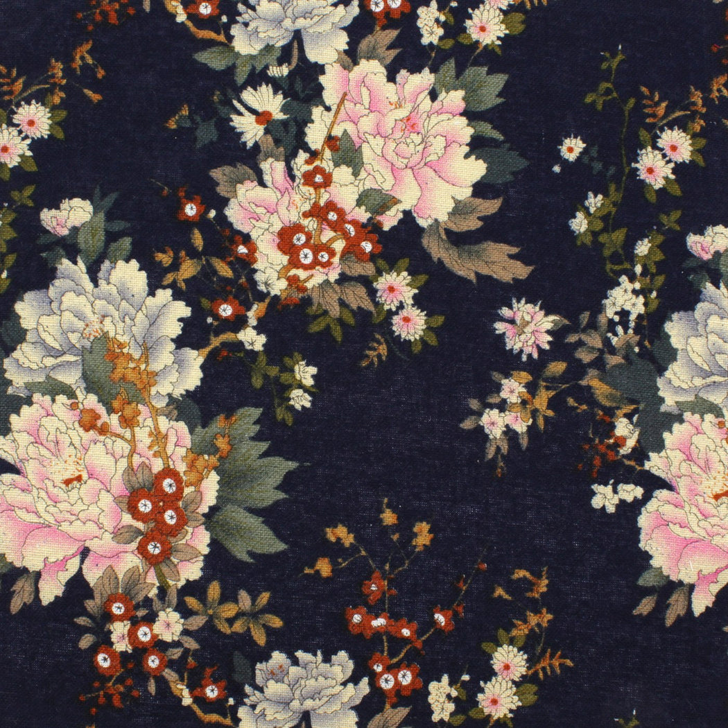 Admiral Blue Floral Pocket Square