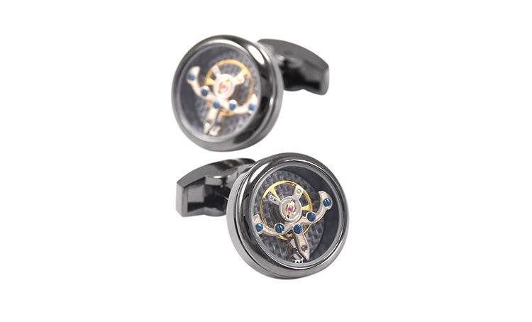 Anchor Mechanical Watch Movement Cufflinks