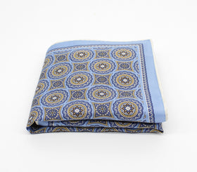 Aqua Royale Silk Pocket Square