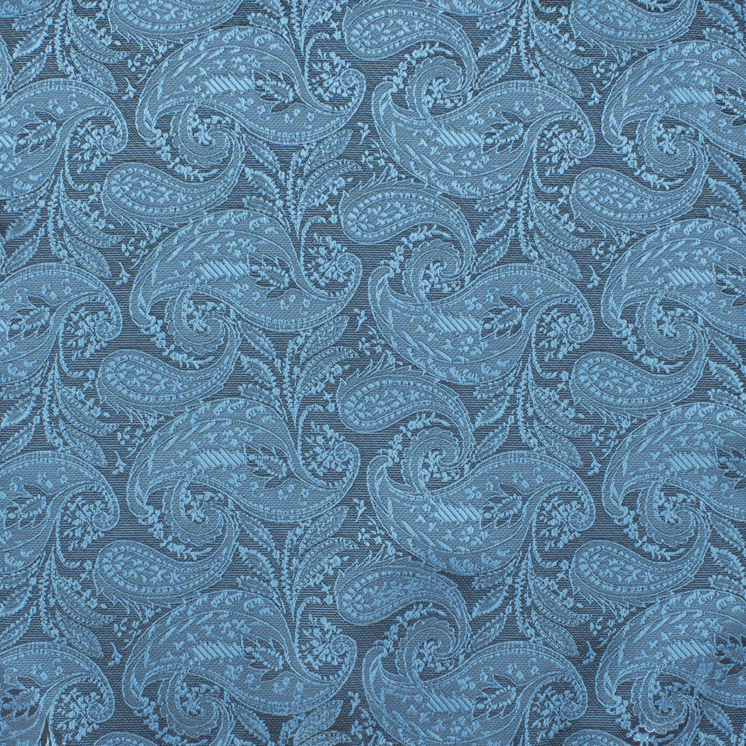 Arctic Blue Paisley Pocket Square