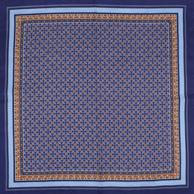 Artistic Royal Blue Silk Pocket Square