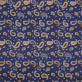 Azure Blue Magic Paisley Pocket Square