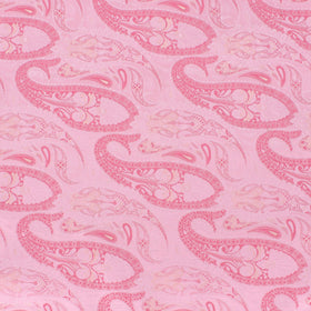 Ballet Slipper Pink Paisley Pocket Square
