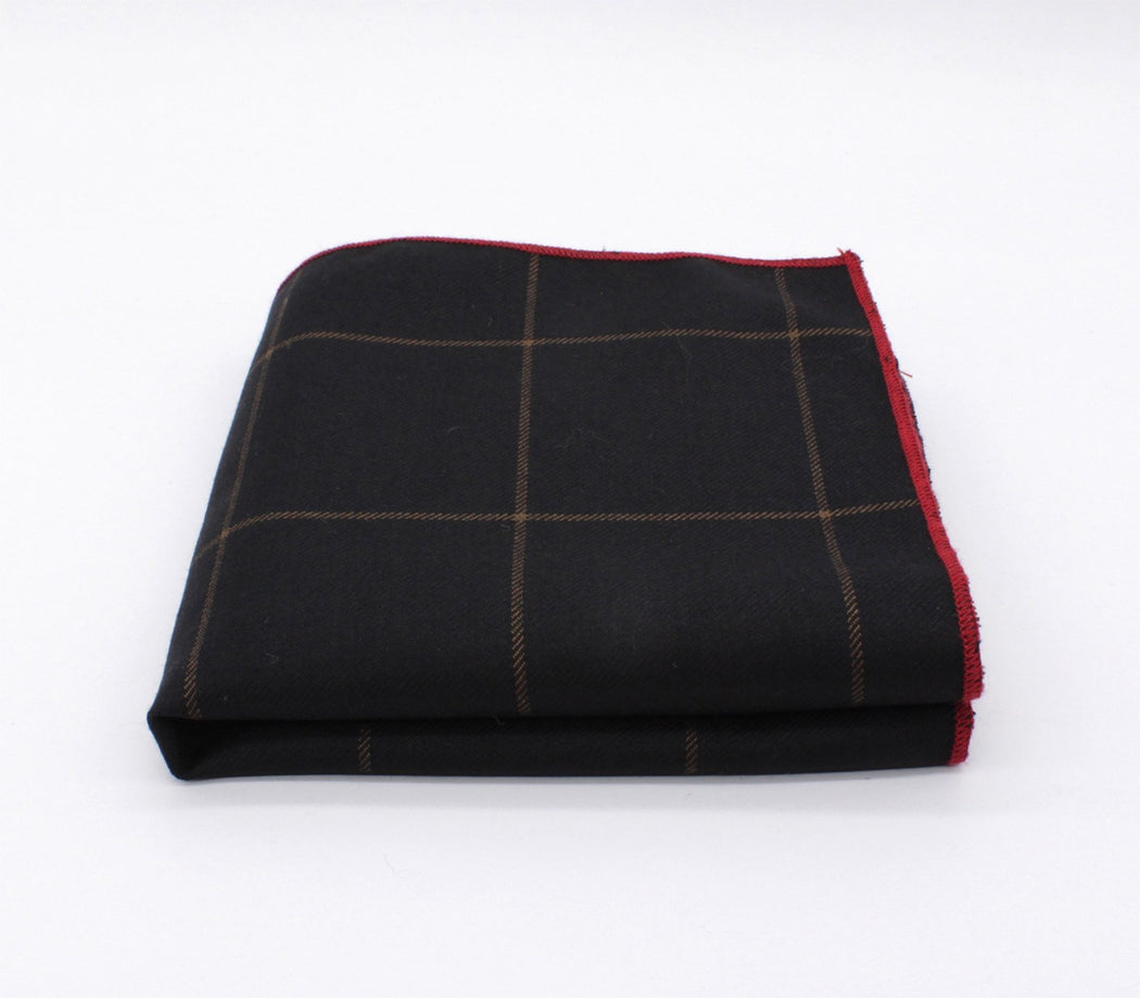Black Boss Plaid Pocket Square