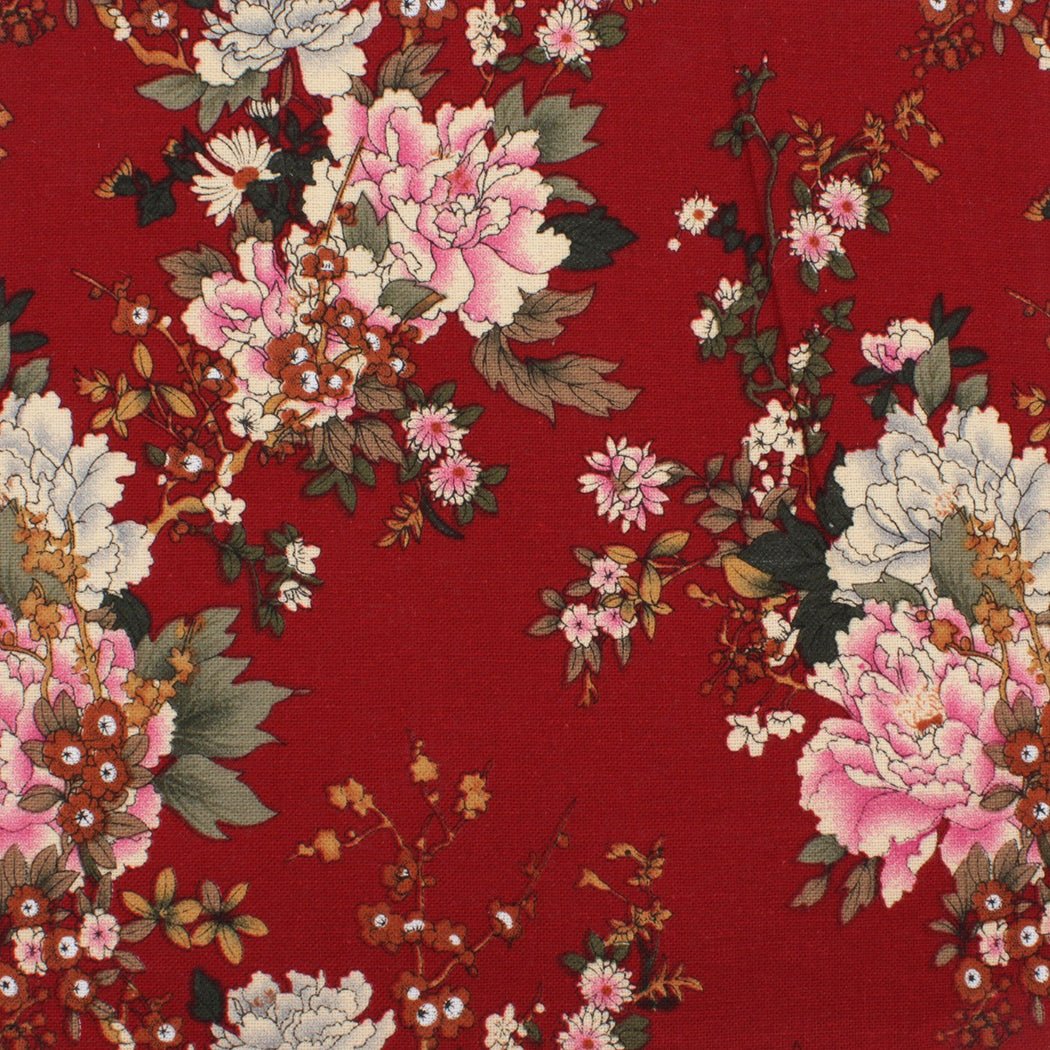 Blood Red Floral Hanky