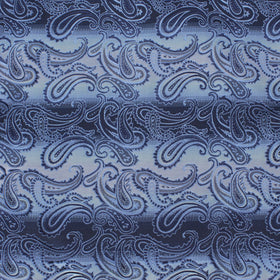 All Blue Blaze Paisley Pocket Square