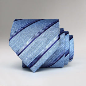 Blue Frenzy Striped Tie
