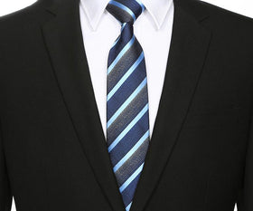 Blue Sky Striped Tie