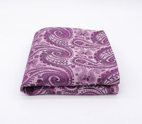 Boysenberry Purple Paisley Pocket Square