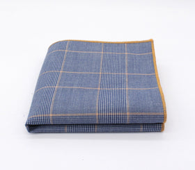Bright Blue Plaid Pocket Square