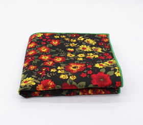 Bright Flowers Floral Hanky