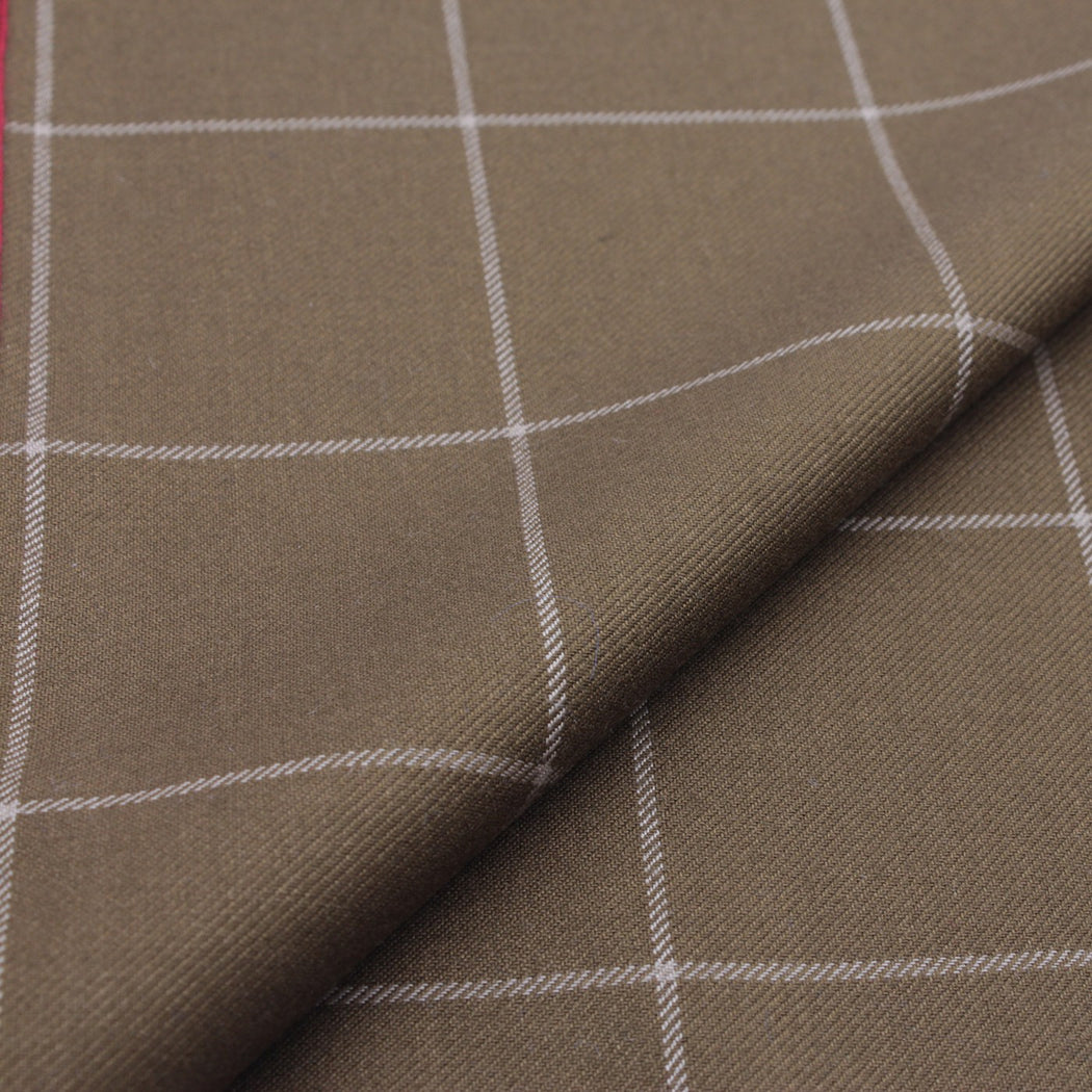 Brilliant Brown Plaid Pocket Square