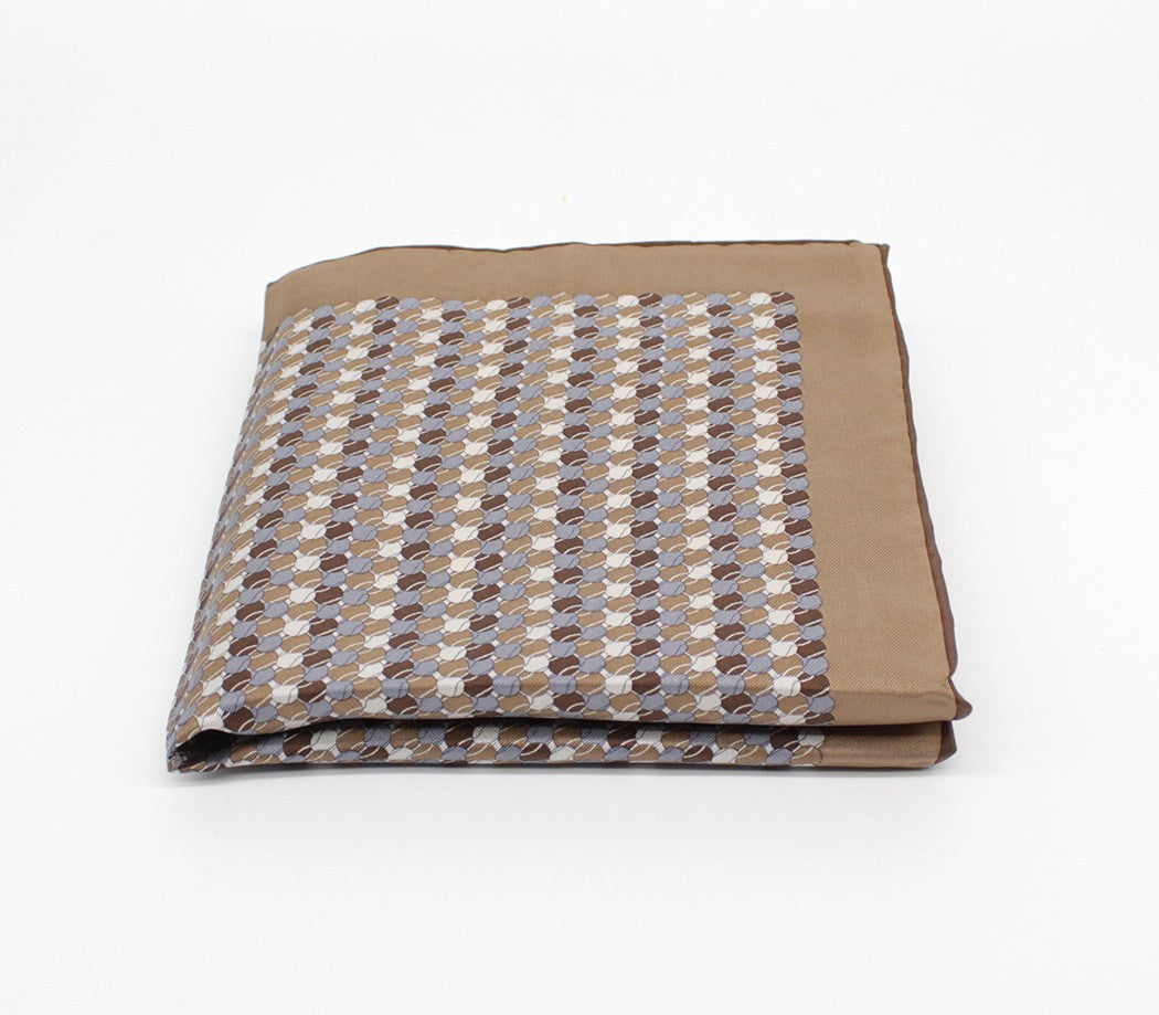 Brown Elegant Silk Pocket Square