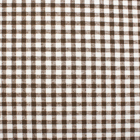 Brown & White Plaid Pocket Square