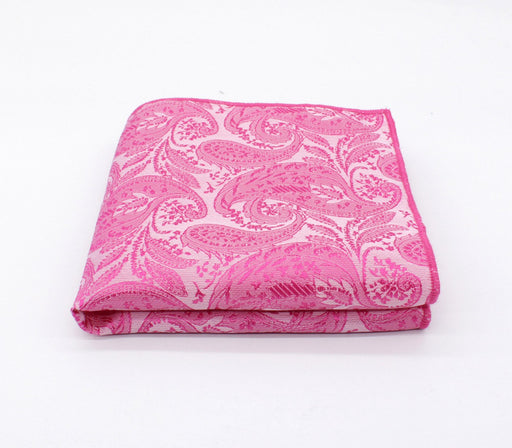 Bubblegum Pink Paisley Pocket Square