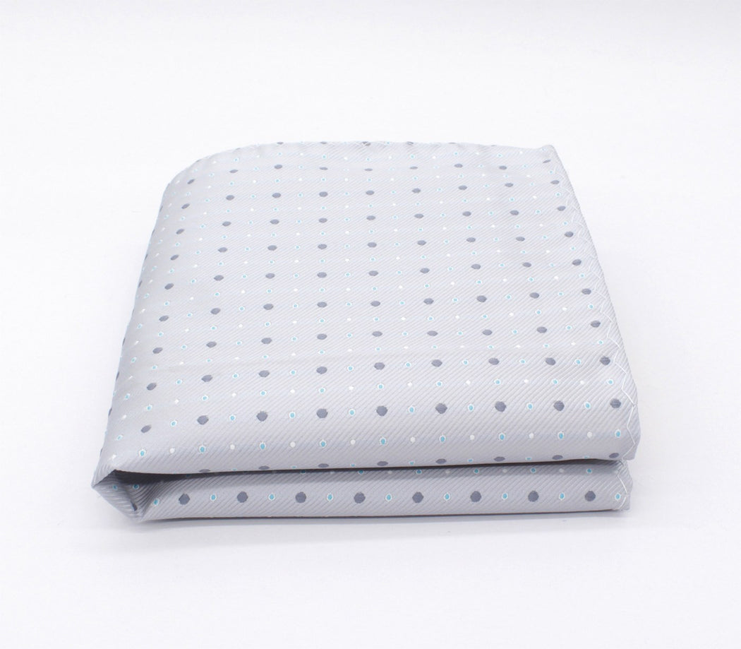 Calm Silver Polka Dot Pocket Square