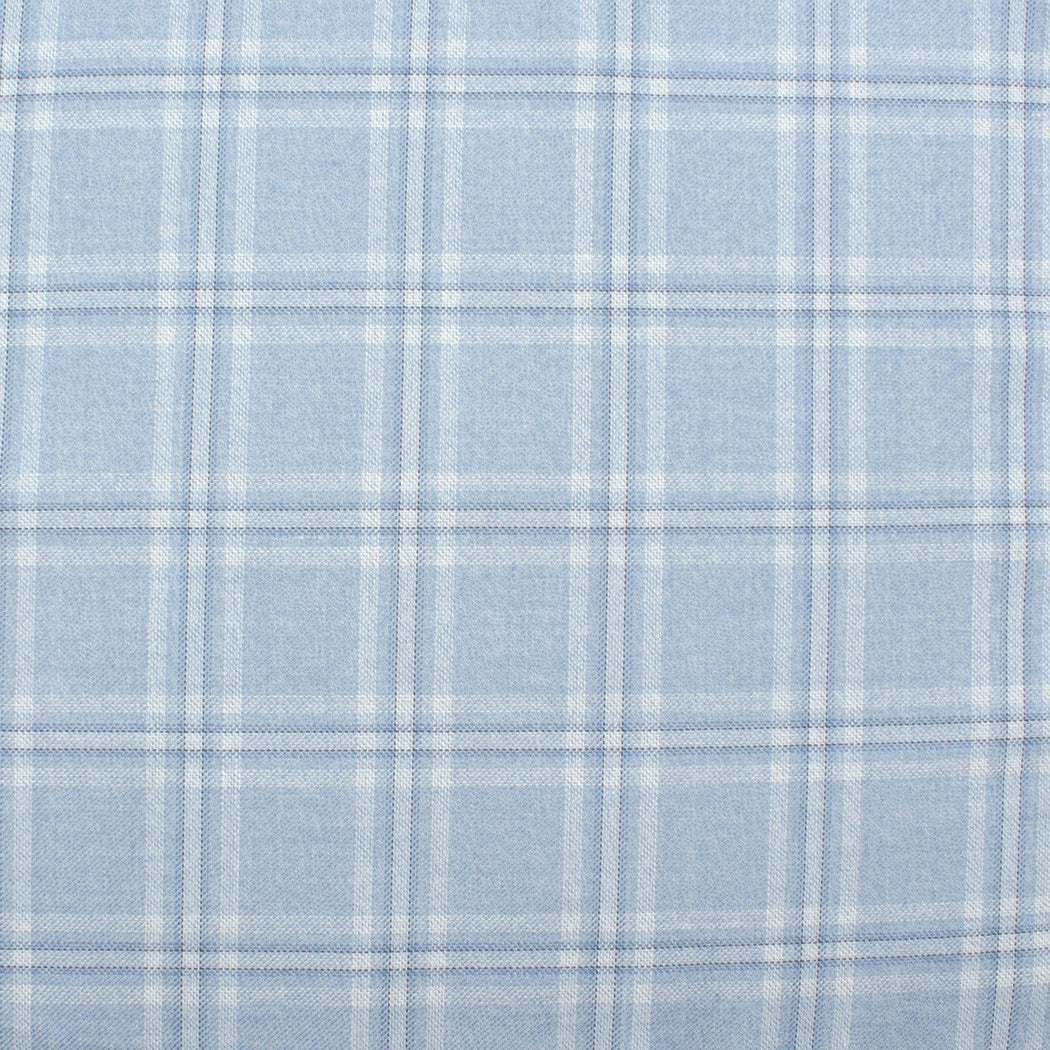 Cerulean Blue Plaid Pocket Square
