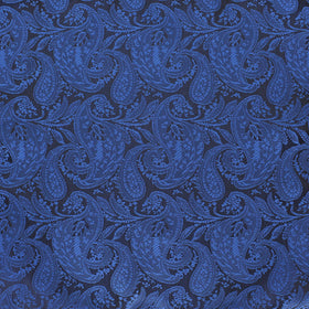 Cobalt Blue Paisley Pocket Square