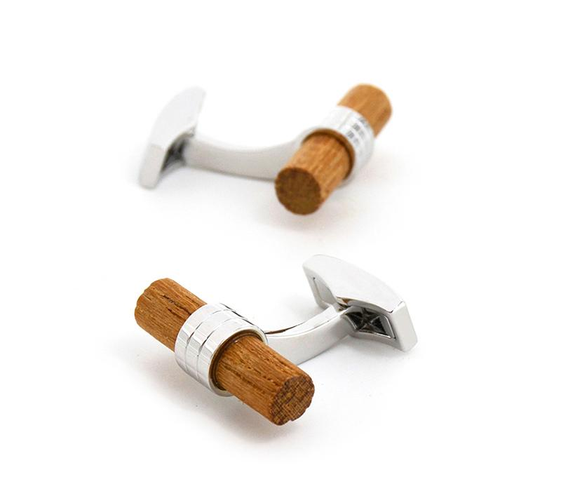 Corked Wooden Cufflink