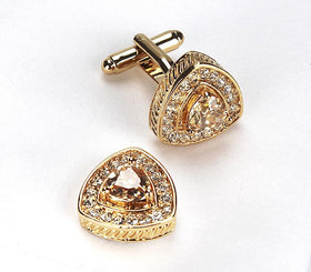 Curved Triangle Cufflink