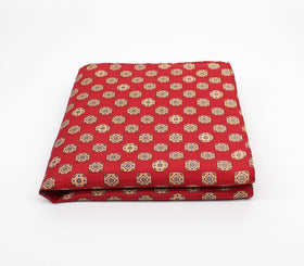 Daring Red Silk Pocket Square