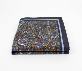 Dark Blue Silk Pocket Square