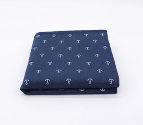 Deep Blue Pattern Pocket Square