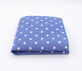 Faded Lapis Polka Dot Pocket Square