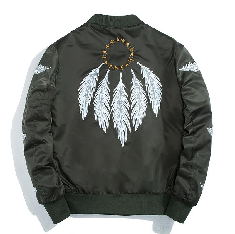 Feather Bomber Jacket