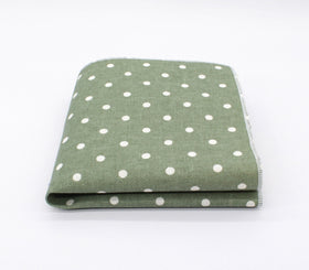 Fern Green Polka Dot Pocket Square