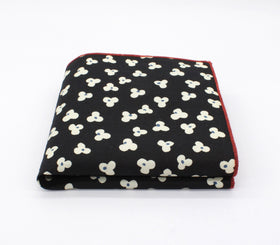 Flirty Black Pattern Pocket Square