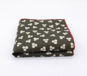 Floral Green Pattern Pocket Square