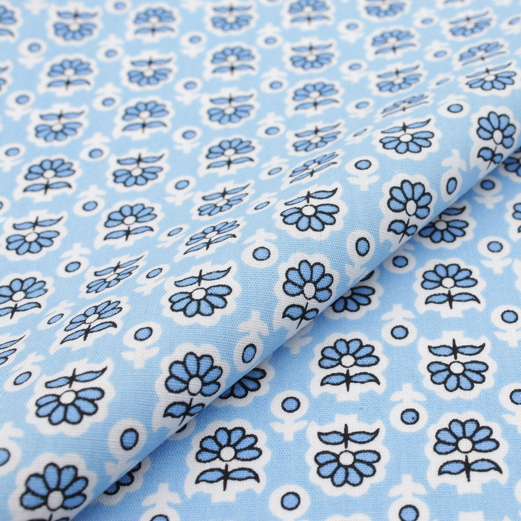 Floral Blue Pattern Pocket Square