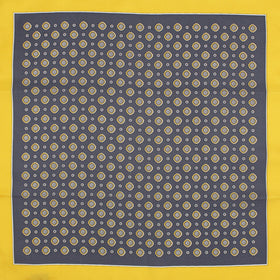 Floral Yellow Silk Pocket Square