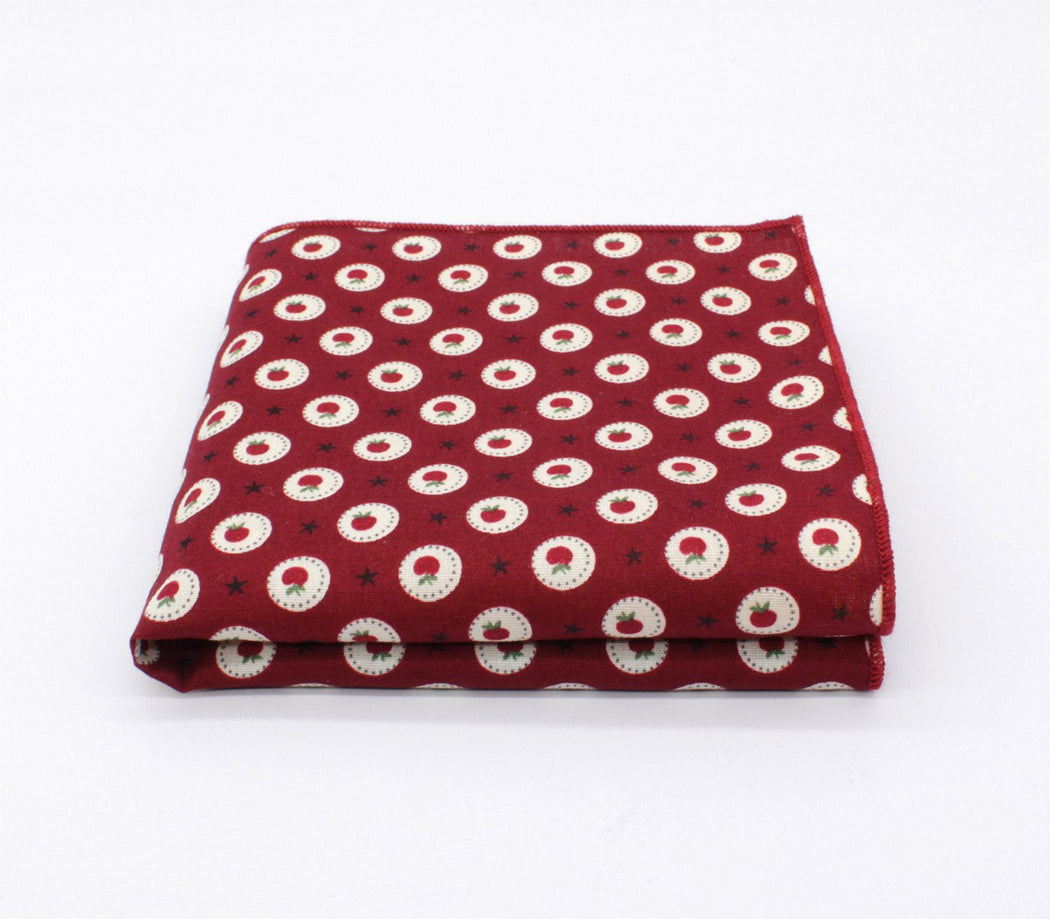 Fruity Pattern Pocket Square