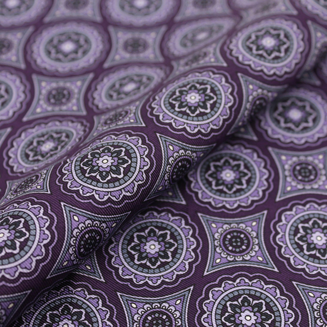 Glamorous Purple Silk Pocket Square